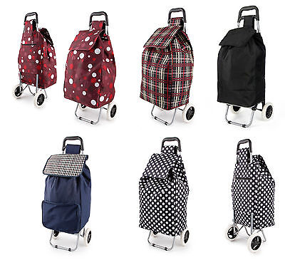 Folding Wheeled Funky Shopping Trolley, Large Strong Bag, Waterproof LightWeight