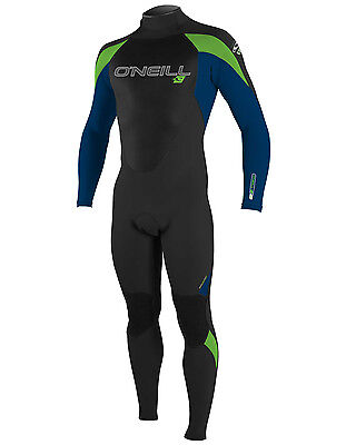 O'Neill Epic Mens 5/4mm Wetsuit (2016) in Black & Lime - On Sale Now