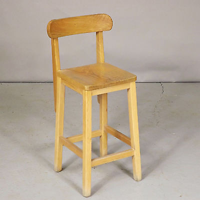 Lab Stool with Back - Beech & Ash (delivery available)