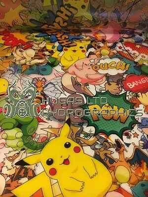 Hydro Dipping Hydrographics Film POKEMON   HUGASLTD ROLLED ONLY!