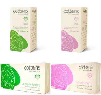 Cottons 100% Cotton Tampons - Hypo-allergenic