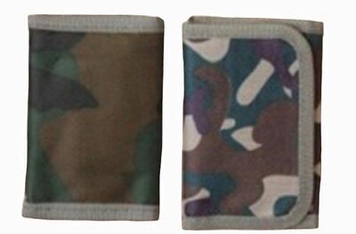 Boys Mens Small Army Camouflage Wallet Size Approx.10.5Cm X 7Cm Zip Compartment