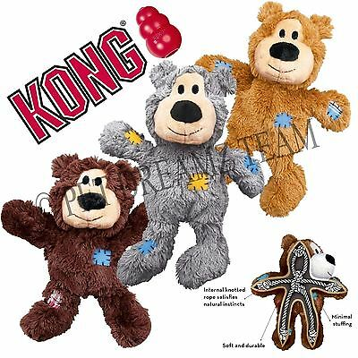 Kong Wild Knots Bear - Plush SQUEAKY XL Dog Toy - FOR BIG DOGS