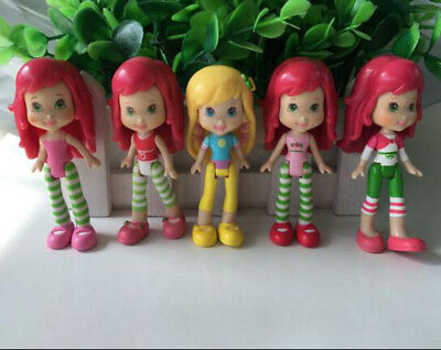 5P Girls Kids Baby Gift Toys 2.75 inch. Strawberry Shortcake  Dolls Figures  A20