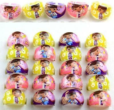 100 Cartoon Girls Princess Children Youngdoctor Resin Rings Wholesale Jewelry