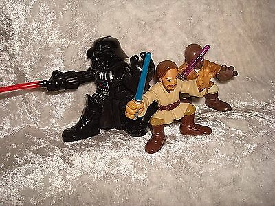 Star Wars Galactic Miniature Darth Vader Obi Wan Mace Windu Hasbro 2001 -04 - 07