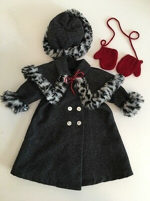 American Girl Doll Nellie Winter Coat Set Of 4 2004 Retired Pleasant Co EUC