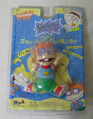 Vintage 1997 Rugrats Squeezable Flashlight CHUCKIE Key Chain original package