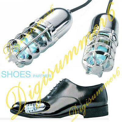 Shoes UV Ultraviolet Sterilizer Lamp Ozone Deodorizer Heating Dehumidification