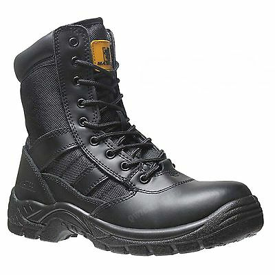 Mens Army Military Police Security Combat Uniform Work Steel Toe Cap Boots Shoes