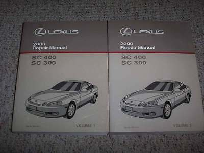 2000 lexus sc300 sc400 shop service repair manual 3 0l 4 0l v8 rh picclick com lexus sc400 service manual 1996 lexus sc400 repair manual