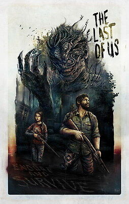 "027 The Last of Us - Zombie Survival Horror Action TV Game 24""x38"" Poster"