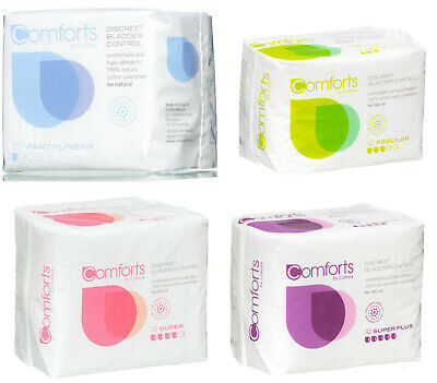 Cottons Comforts 100% Cotton Discreet Bladder Control Incontinence Pads