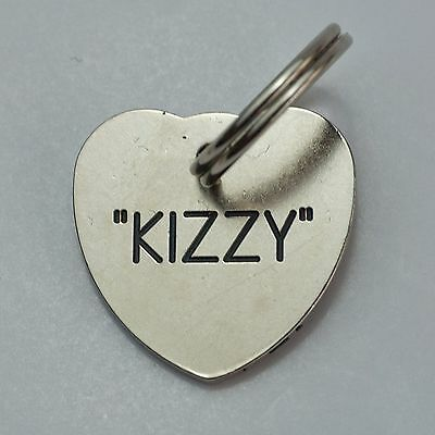 Quality Engraved Pet tag  - Mini  20mm Heart Nicron tag