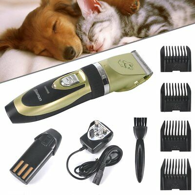 Professional Mute Set Pet Cat Dog Fur Hair Cordless Clipper Trimmer Shaver Kits