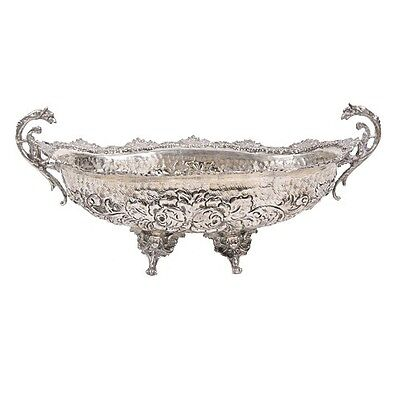 Antique 800 Silver Footed Dish With Handles