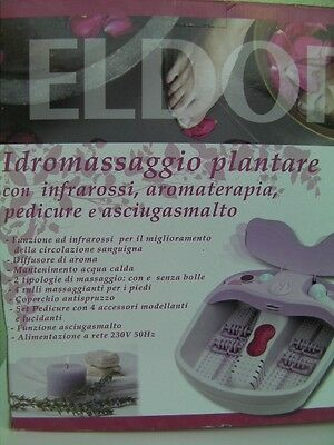 Idromassaggio Plantare Eldor Originale Pedicure Aromaterapia Infrarossi Foot New