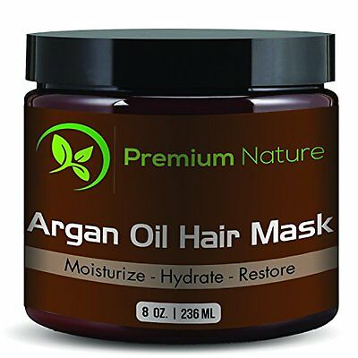 Argan Oil Hair Repair Mask 8 oz. 100% Organic Oils - Condition and Restore