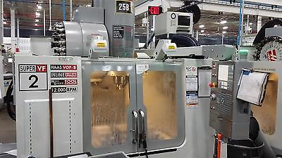 Used Haas VF-2SS CNC Vertical Machining Center Mill 12,000 rpm 24 ATC VMC 2006