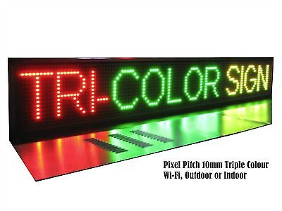 LED Sign Scrolling Message Board Programmable - Triple Colour Outdoor Wi-Fi