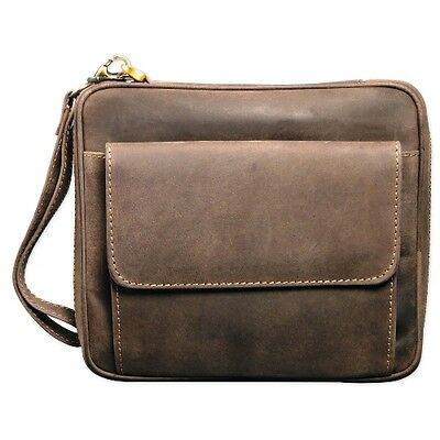 Pipe bag 6 Nubuck Leather natural brown for 6 Whistle 20x17x5.5