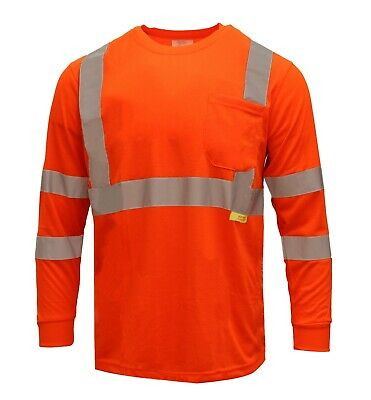 Hi Vis T Shirt Class 3 Reflective Safety Long Sleeve HIGH VISIBILITY-L9091/92