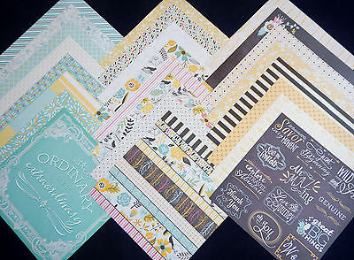 12X12 Scrapbook Paper Cardstock Sunny Dreams Floral Bridal Baby Shower Spring 24