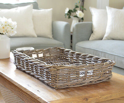 Rattan Tray Antique Cane Serving Tray Coffee Table Ottoman Tray 60cm