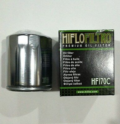 HIFLO FILTRO Chrome Spin On Engine Oil Filter f/ Harley Evo Big Twin & Sportster