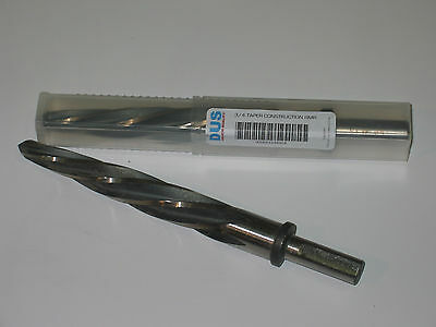 "3/4  Construction Taper Reamer 1/2"" Shank-3Flat"