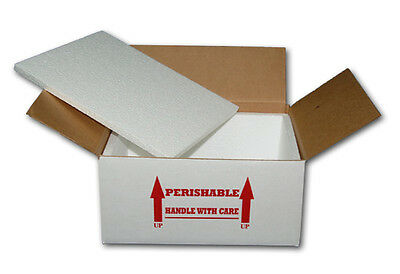 """Insulated Shipping Box  15"""" x 11"""" x 7""""    With 1/2"""" Foam"""
