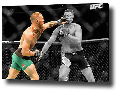 Conor Mcgregor Canvas Print Poster Photo Ufc 202 Wall Art 2016 Nate Diaz *new*