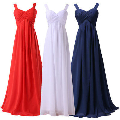 New Long Prom Bridesmaid Maxi Dress Formal Evening Party Cocktail Gown Size 6-20