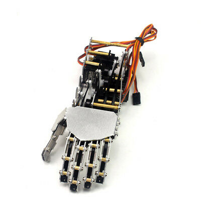 5DOF Humanoid 5 Fingers Manipulator Arm Left Hand + 5pcs Servos DIY for Robot