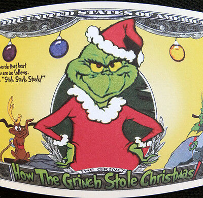 The Grinch that stole Christmas FREE SHIPPING! Million-Dollar novelty bill