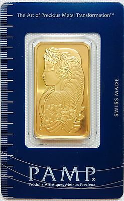 NEW Authentic Pamp Sussie 1 Ounce (Oz.) Gold Bar 999.9% pure in Sealed Assay