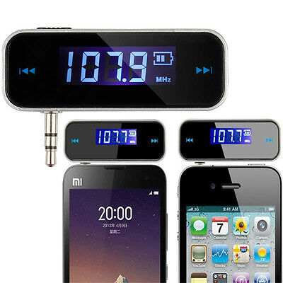 3.5mm In-car FM Transmitter Radio Audio Adapter FM Radio Transmit For Cell Phone