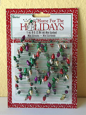 Miniature Dollhouse ~ 8 Ft. Mini CHRISTMAS 8 MM Metallic Light Bulb Garland NEW