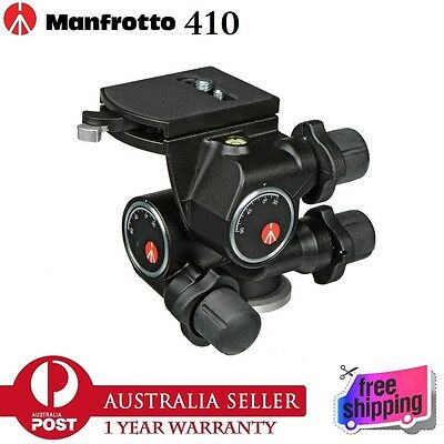 100% Genuine Manfrotto 410 Junior Geared Head with Quick Release Plate 410PL