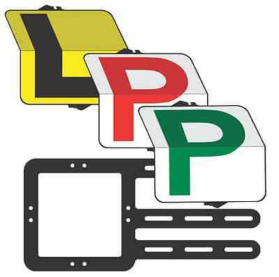 """Learner &Provisional  Driver """"Eureka"""" Pack  L/Red/Green P  Plate - Clip Plate"""