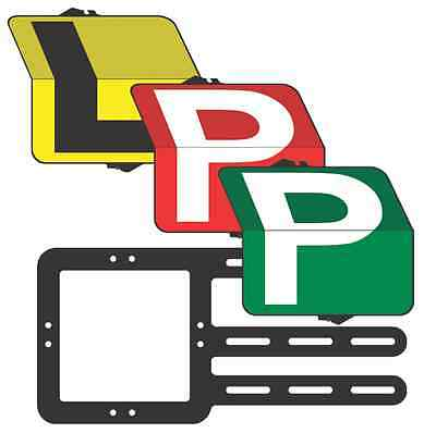 """Learner & P Plate  Driver """"Eureka"""" Pack  L/Red/Green P  Plate - Clip Plate"""