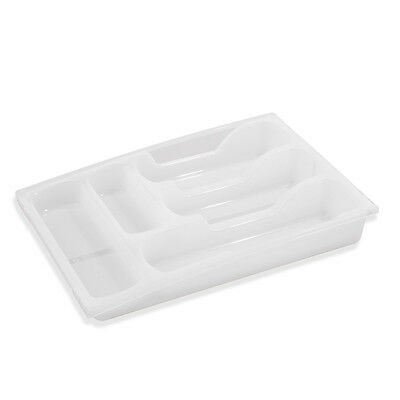 Transparent Curver extendable drawer cutlery tray, 30-50 cm wide