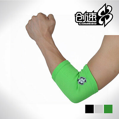 Elastic Elbow Support Brace Elbow Guard Pair Black/Gray/Green