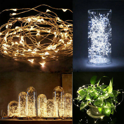 String Fairy Lights 2M 3M 10M LED Battery Operated Xmas Lights Party Wedding