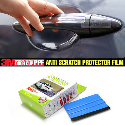 Door Handle Cup Anti Scratch Clear Paint Protector 3M Film For All Vehicle