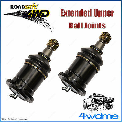 Pair Nissan Navara D40 4WD  Roadsafe Extended Upper Ball Joints 9/05-12/06