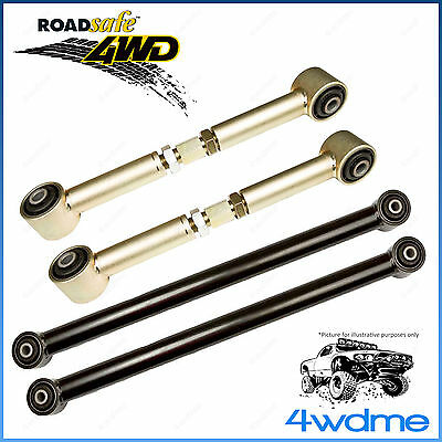 Complete Nissan Patrol GQ GU Roadsafe Extended Rear Upper & Lower Trailing Arms