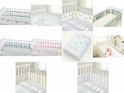 Cot Mesh Liner Breathable Baby Airflow Cot Bumper 2 or 4 Sided Breathablebaby