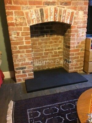 Fireplace Hearth | 90cm x 45cm | Natural Black Limestone | Identical to SLATE