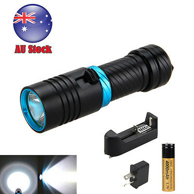 Diving 6000LM CREE XM-L2 LED SCUBA Flashlight Torch 18650 Light Underwater 100m